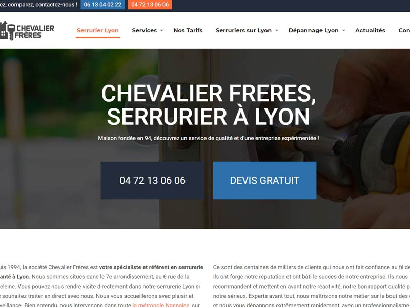 Chevalier Frères : Serruriers à Lyon