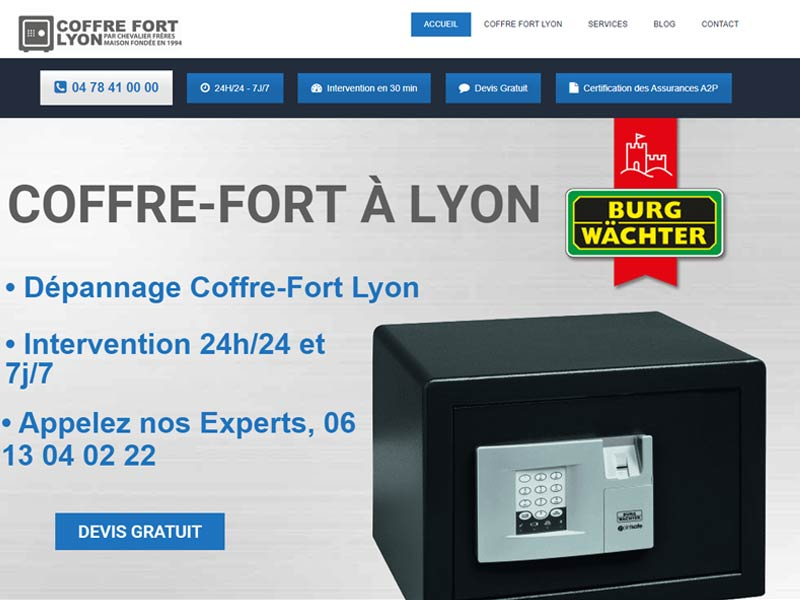 Coffre fort Lyon et agglomération