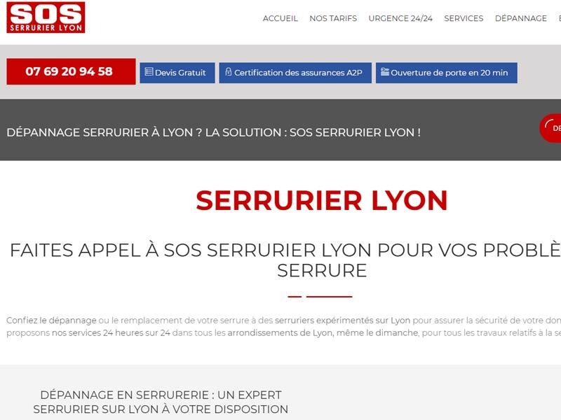 Serrurerie d'urgence par SOS Serrurier Lyon